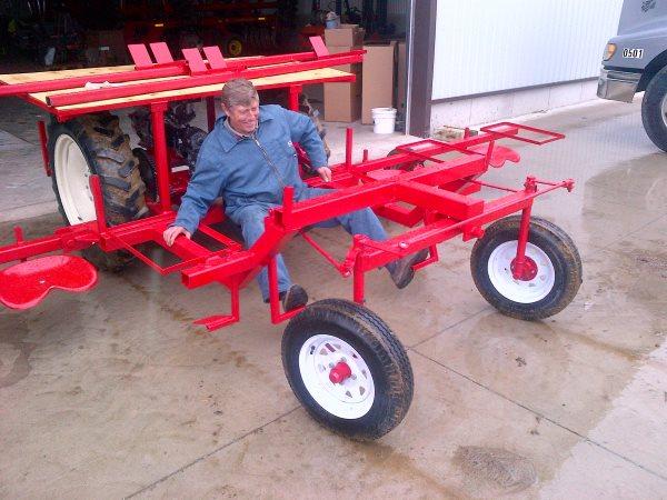 Chromczak Farms fabricates new Asparagus Riders.